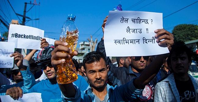 तेल दिन युवाको जुलुस भारतीय दूतावासमा