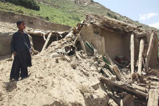 अफगानिस्तानमा  भूकम्प,  १५० भन्दा बढीको मृत्यु