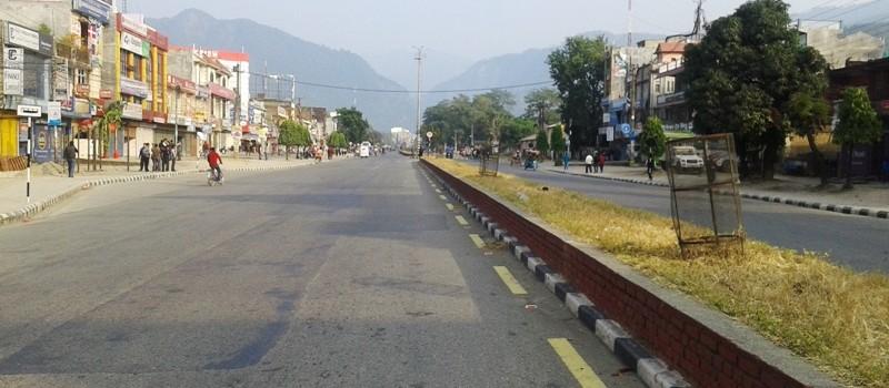 नेपाल बन्दका कारण जनजीवन प्रभावित
