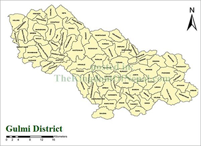 TheKingdomOfNepal.com: Gulmi District Map