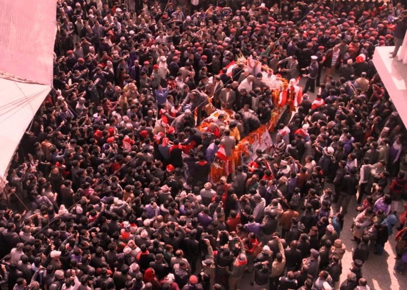 नेपाली काँग्रेसका सभापति तथा पूर्व प्रधानमन्त्री सुशील कोइरालाको अन्त्येष्टिका लागि दशरथ रङ्गशालाबाट सुरु गरिएको शवयात्रा