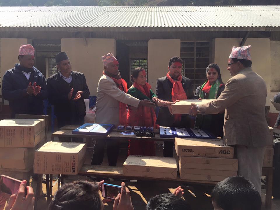 बेल्जियममा 'नेपाल हाउस' निर्माणार्थ दान बोलेको रकम विद्यालयलाइ सहयोग