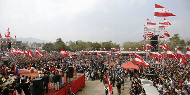 नेपाली कांग्रेसको १३ औं महाधिवेशनको उद्घाटन