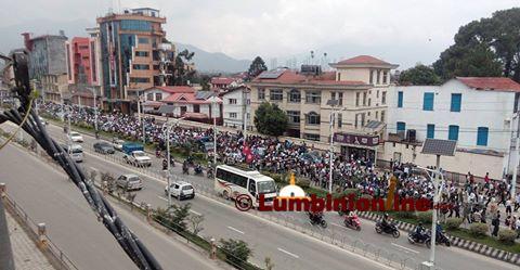 डा.गोविन्द केसीको जीवन रक्षाको माग गदै शनिवार राजधानीमा निकालिएको जुलुश ।