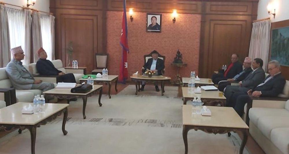 नेकपामा कार्यकारी अध्यक्ष प्रचण्ड : केपी ओली पाँच वर्षकालागि प्रधानमन्त्री