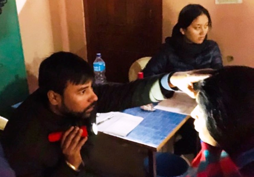 जी २५ क्लवद्वारा कञ्चन गाउँपालिकामा निःशुल्क आँखा स्वास्थ्य परिक्षण