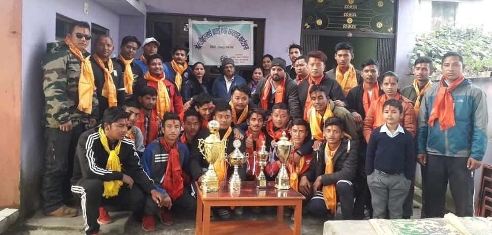 रामपुर नगरपालिका ७ का खेलाडीलाई बधाई तथा धन्यवाद