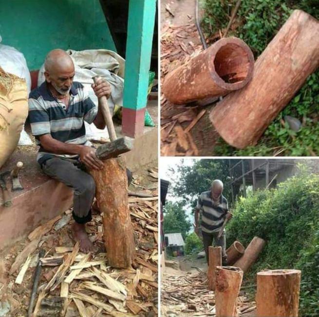 वृद्धवृद्धाले धानेको गाउँको  परम्परागत कृर्षि व्यवसाय