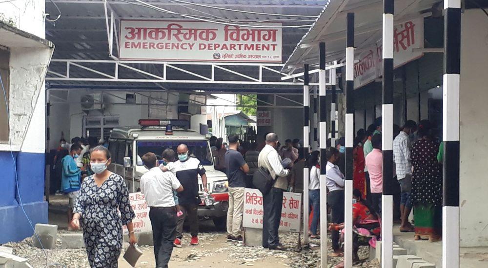 लुम्बिनी प्रादेशिक अस्पताल : उपचारमा आएका बिरामी कोरोना संक्रमणको उच्च जोखिममा