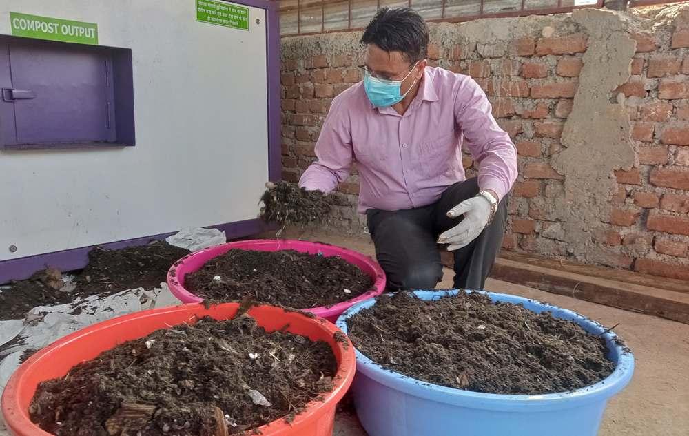 रामपुरमा फोहोरबाट प्राङ्गारिक मल उत्पादन सुरु