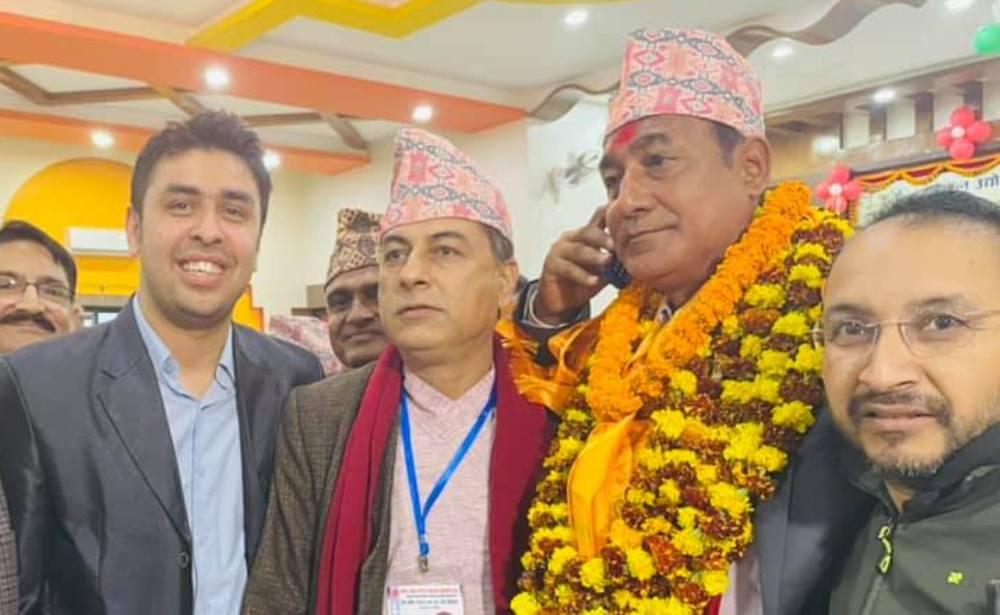 नेपाल उद्योग बाणिज्य महासंघ लुम्बिनी प्रदेश अध्यक्षमा कृष्णप्रसाद शर्मा बिजयी