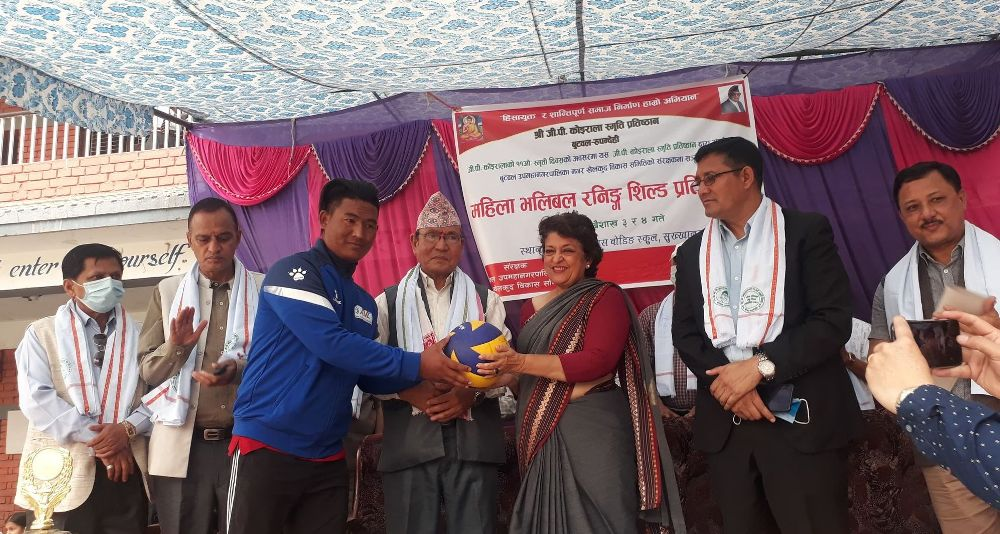 गिरिजाप्रसाद कोईरालाको स्मृतिमा बुटवलमा महिला भलिवल रनिङ्शिल्ड सुरु