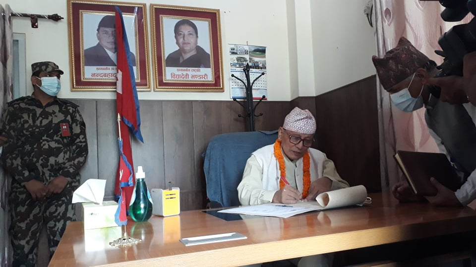 लुम्बिनीका प्रदेश प्रमुख शेरचनले पदभार ग्रहण गर्दै भने–कालिगण्डकी डाईभर्सन गर्नुपर्छ