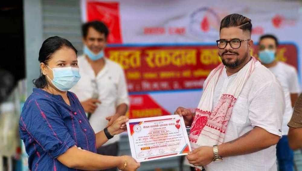 'गाउँगाउँमा रक्तदान' अभियान : एकैदिन १२५ युनिट रगत संकलन