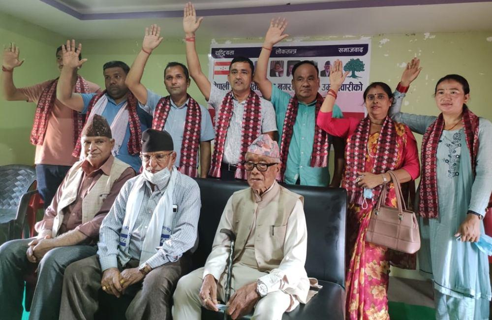 नेपाली काँग्रेस तिलोत्तमा न्यौपानेको नेतृत्वमा उम्मेदवारी घोषणा