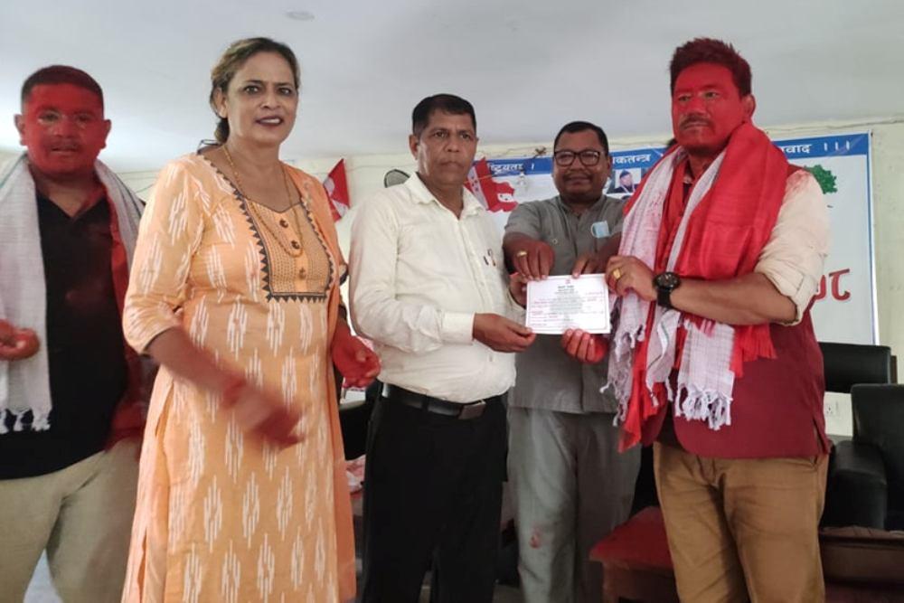 नेपाली काँग्रेस वाणगंगामा निर्वाचित पदाधिकारी तथा सदस्यहरूको पदस्थापन